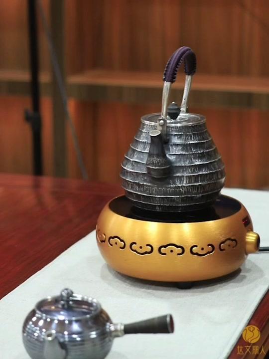 银茶壶999纯银烧水壶 纯手工银壶日本银壶煮水壶 送礼家用银茶壶