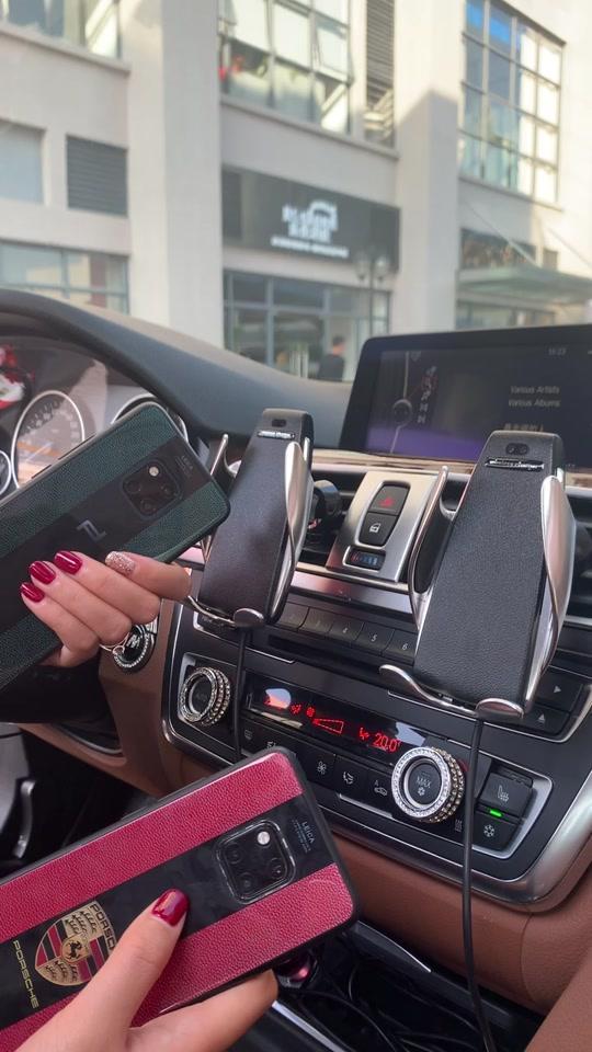 魔光魔夹s5手机支架汽车自动感应无线充电器华为苹果8X出风口车载